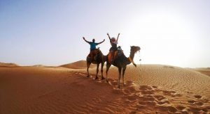 Tourists in Dubai Desert