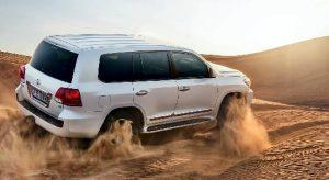 Land Cruiser Riders in Dubai Desert